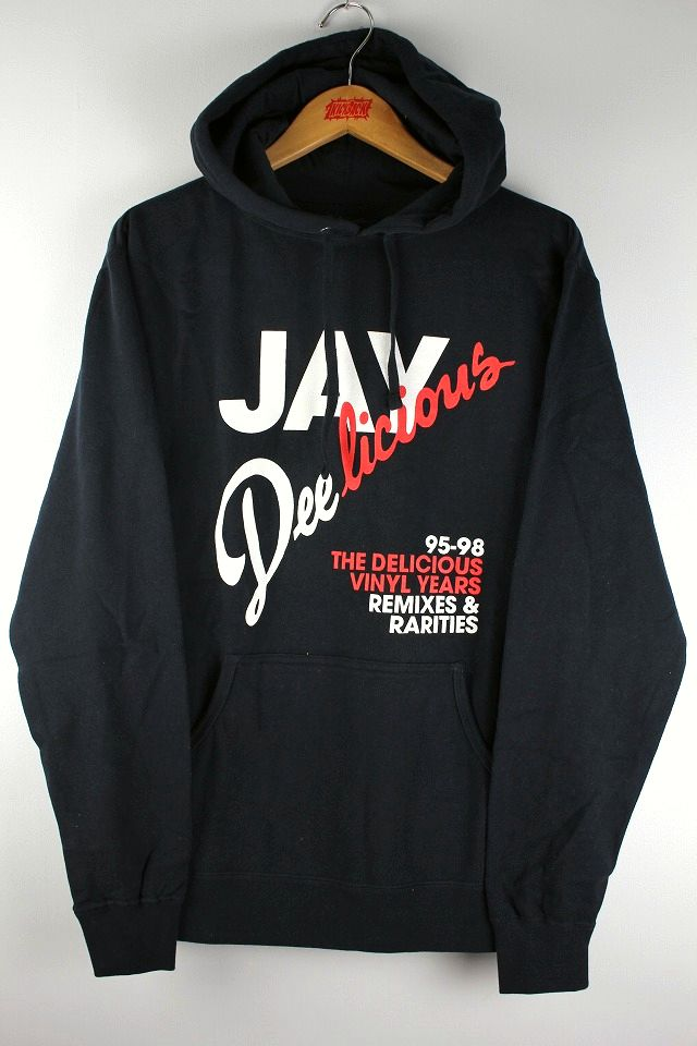 "DELICIOUS VINYL / ""JAY DEE"" PULLOVER SWEAT HOODY / black"