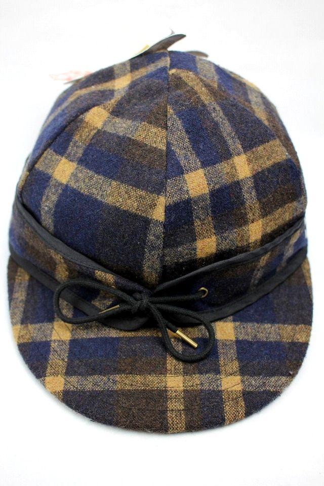 VANS / PLAID WOOL UTILITY CAP / navy×beige×brown
