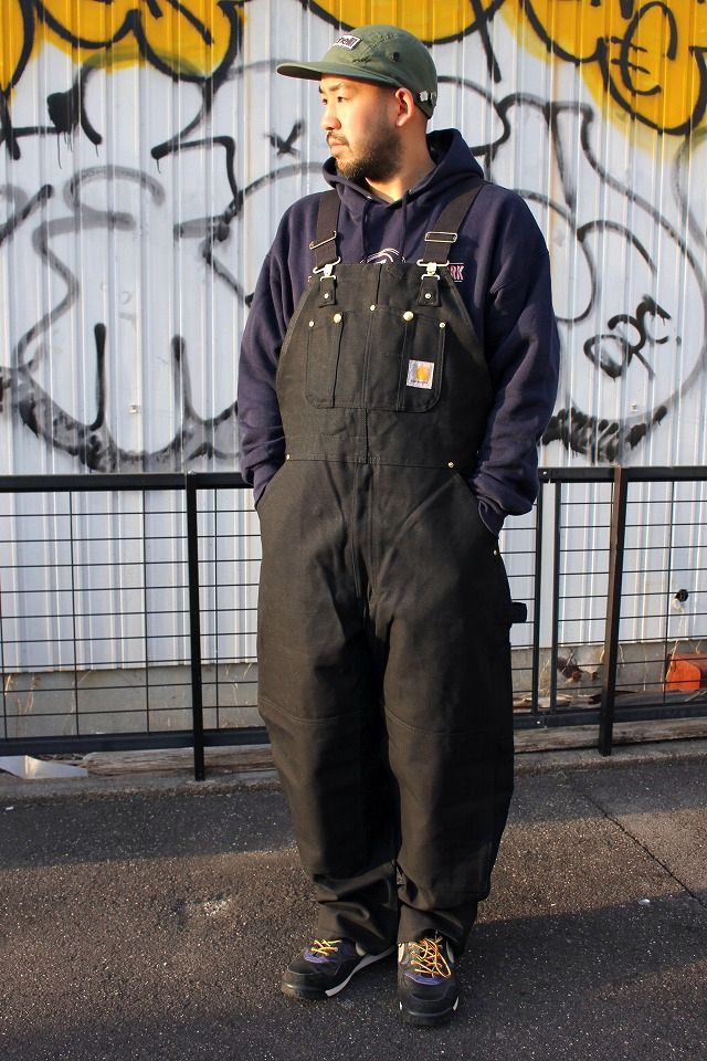CARHARTT / ZIP-TO-THIGH BIB OVERALL / black