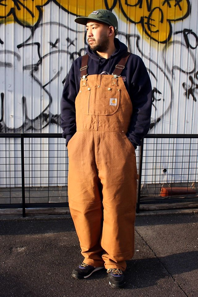 CARHARTT / ZIP-TO-THIGH BIB OVERALL / carhartt brown