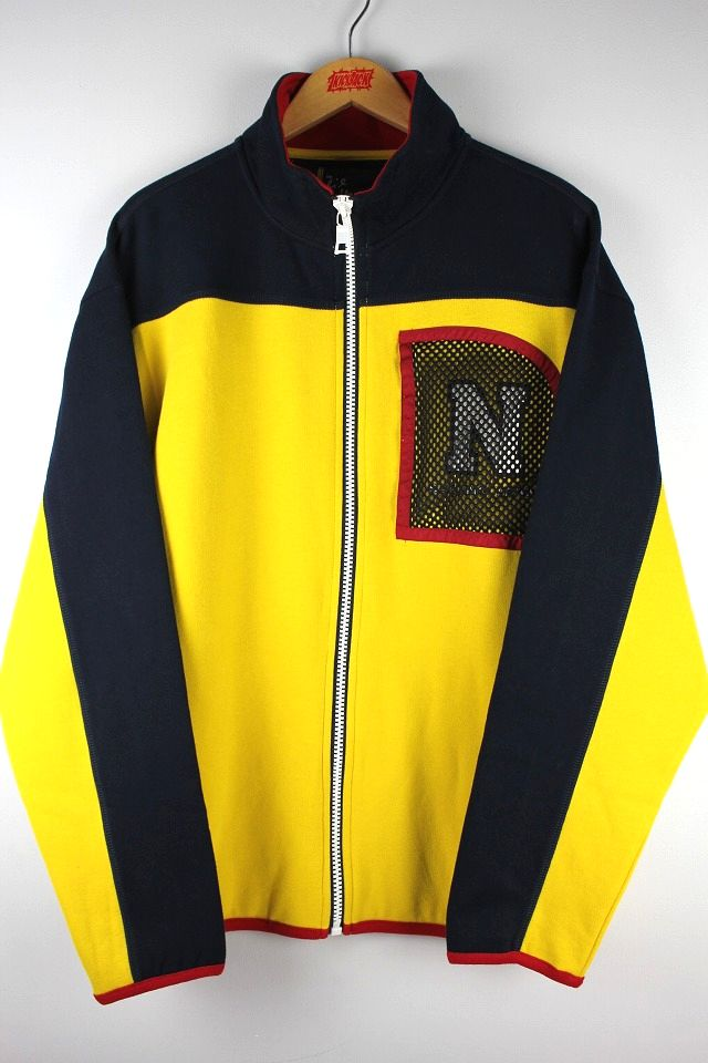NAUTICA×LIL YACHTY / ZIP UP SWEAT JACKET / navy×yellow×red