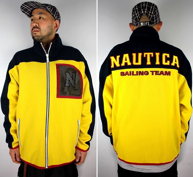 NAUTICA×LIL YACHTY / ZIP UP SWEAT JACKET / navy×yellow×red