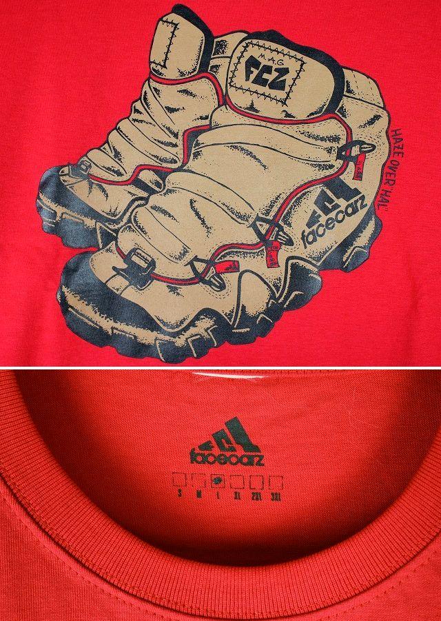 """FACECARZ / """"FCZ LANDER"""" Tee / red"""