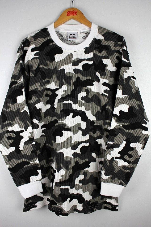 PRO CLUB / LONG SLEEVE THARMAL Tee / city camo