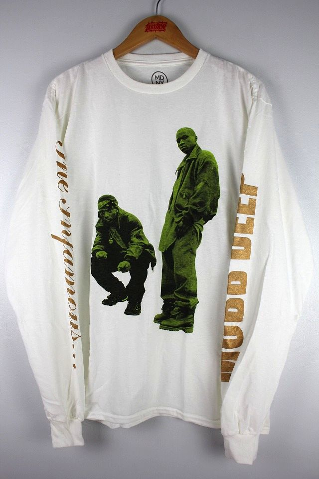 "MOBB DEEP / ""NEVER SHOOK"" LS Tee / white"