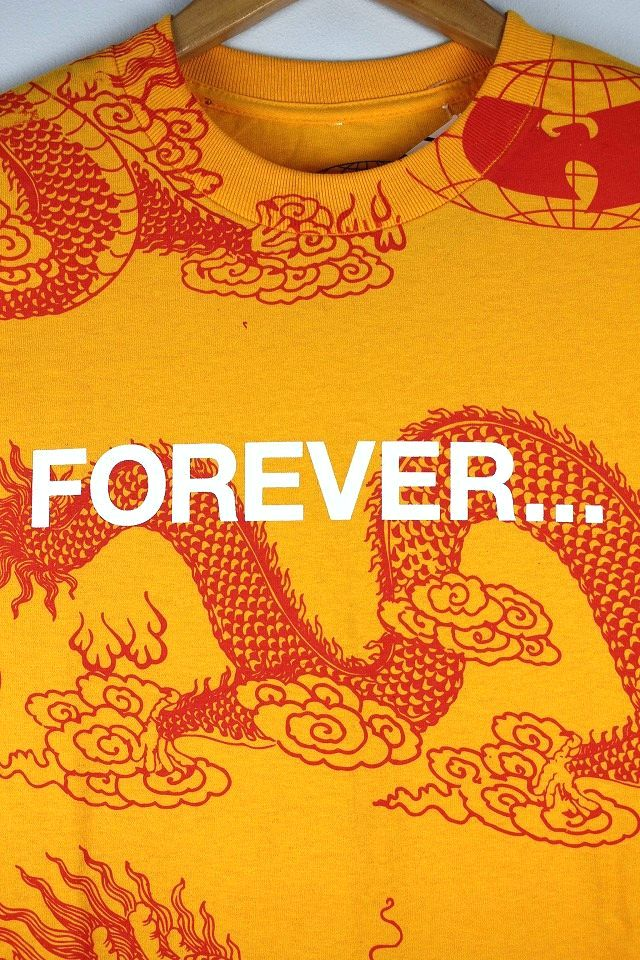 "WU WEAR / ""FOREVER DRAGON"" Tee / yellow×red"