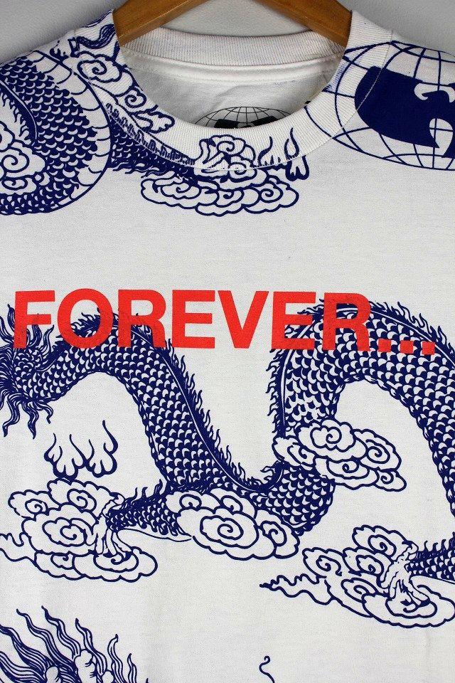 "WU WEAR / ""FOREVER DRAGON"" Tee / white×blue"