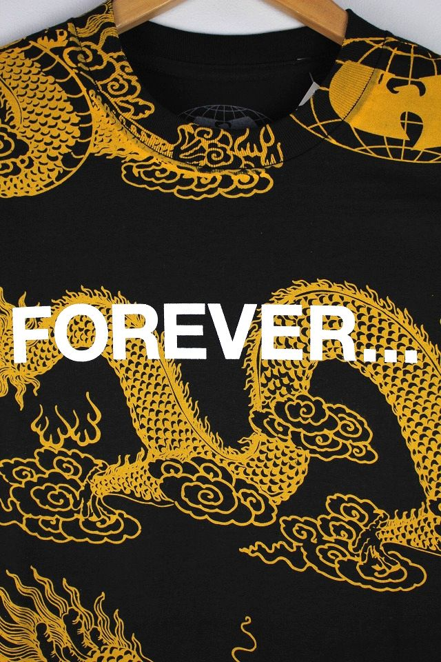 "WU WEAR / ""FOREVER DRAGON"" Tee / black×yellow"