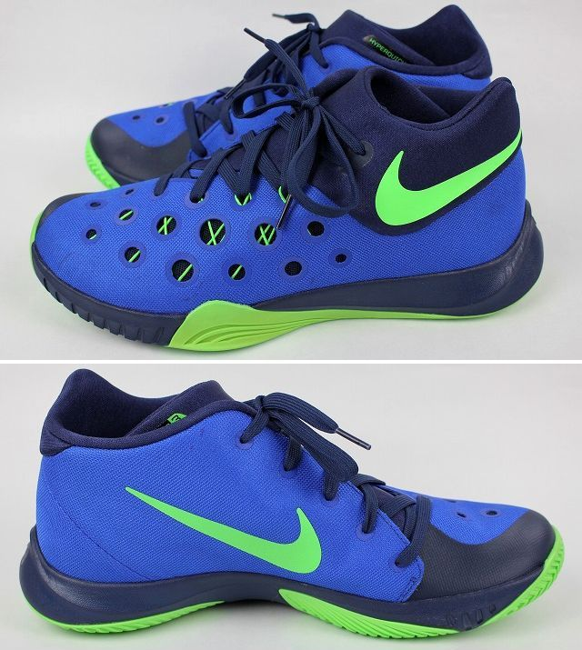 NIKE / ZOOM HYPERQUICKNESS 2015 / blue×navy×yellow green