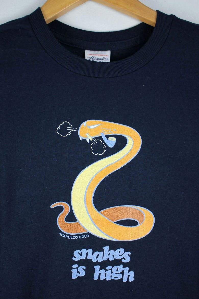 "ACAPULCO GOLD / ""SNAKES IS HIGH"" Tee / navy"