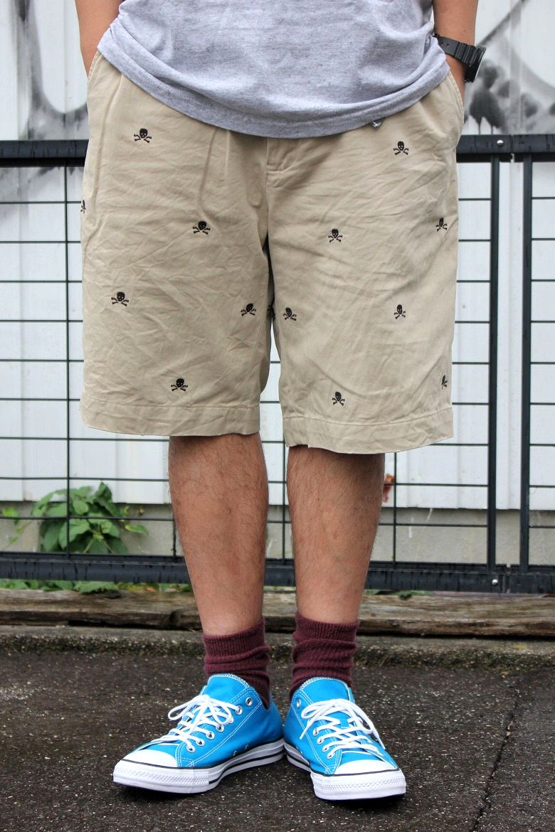 "USED!!! RALPH LAUREN RUGBY / ""SKULL"" CHINO SHORTS / beige"