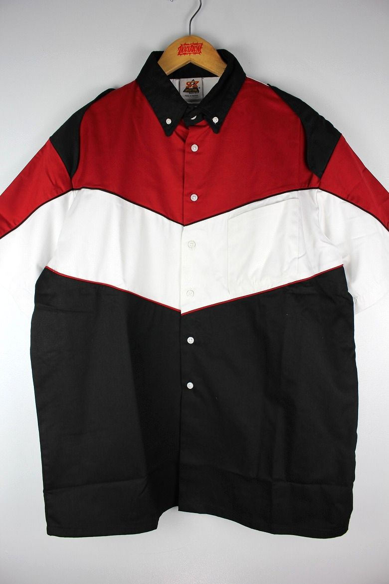 "SPEED ZONE by HILTON / ""PIT CREW"" SS RACING SHIRTS / red×white×black"
