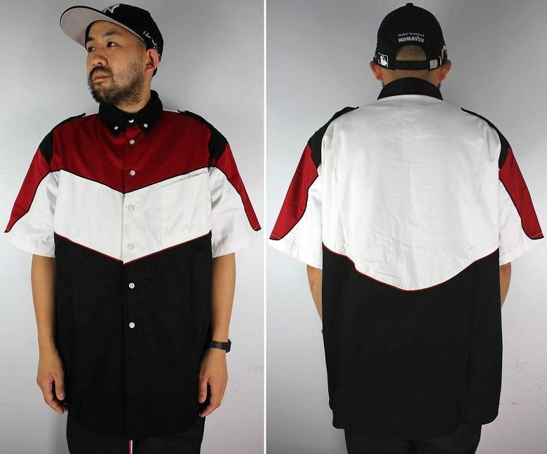 """SPEED ZONE by HILTON / """"PIT CREW"""" SS RACING SHIRTS / red×white×black"""