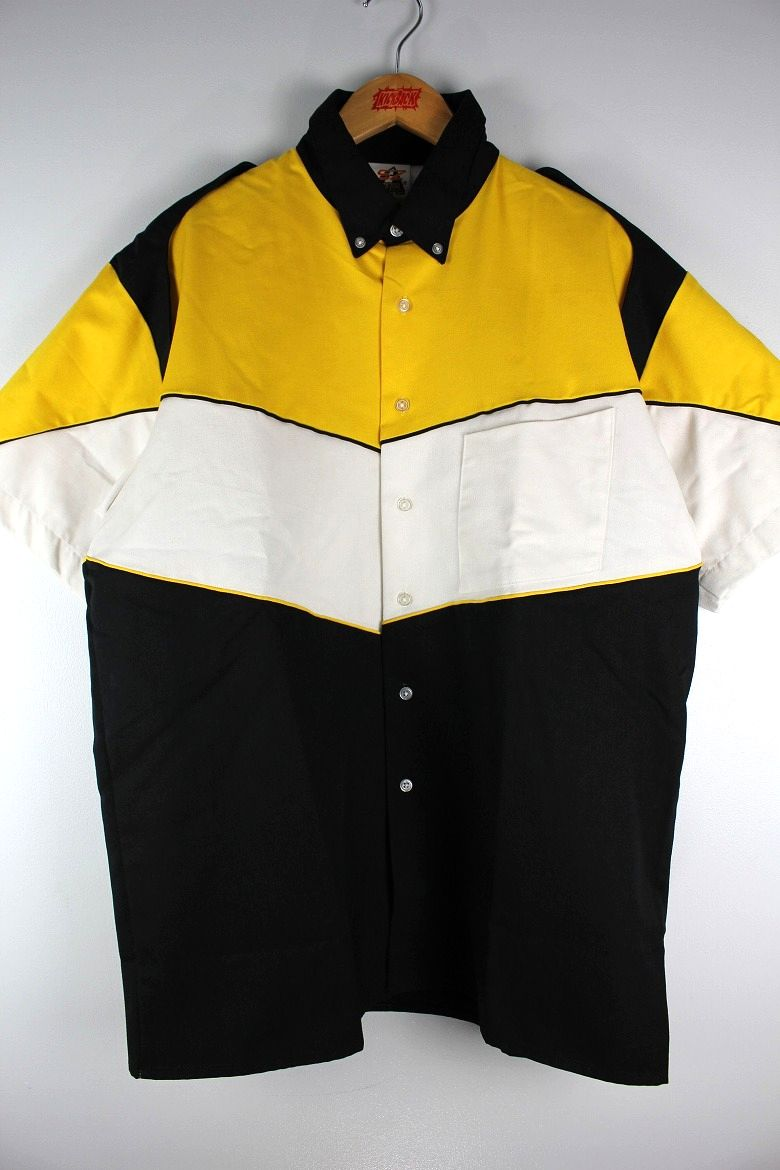 "SPEED ZONE by HILTON / ""PIT CREW"" SS RACING SHIRTS / yellow×white×black"