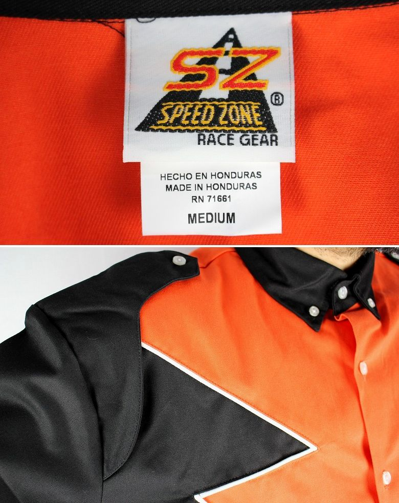 "SPEED ZONE by HILTON / ""SPOILER"" SS RACING SHIRTS / orange×black"