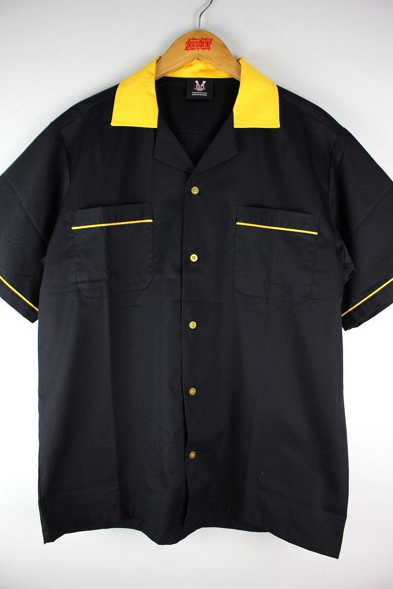 "HILTON / ""GM LEGENDS"" BOWLING SHIRTS / black×yellow"