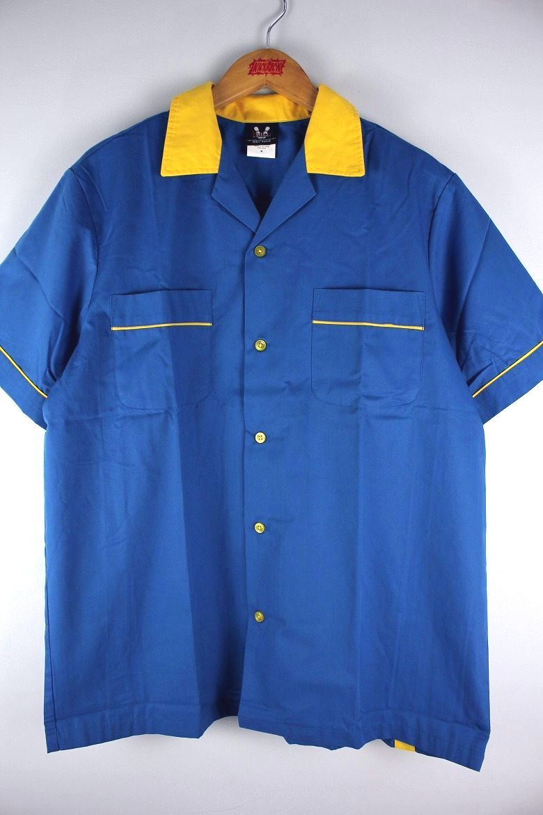 "HILTON / ""GM LEGENDS"" BOWLING SHIRTS / light blue×yellow"