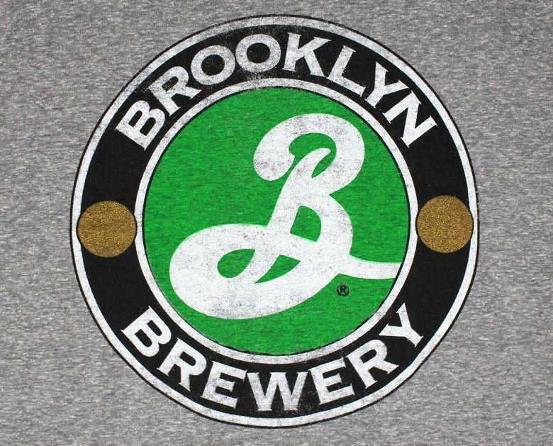 BROOKLYN BREWERY / LOGO TRI-BLEND Tee / heather grey