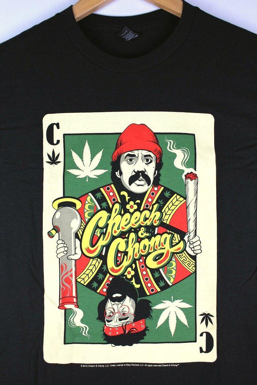 "CHEECH & CHONG / ""PLAYING CARD"" Tee / black"
