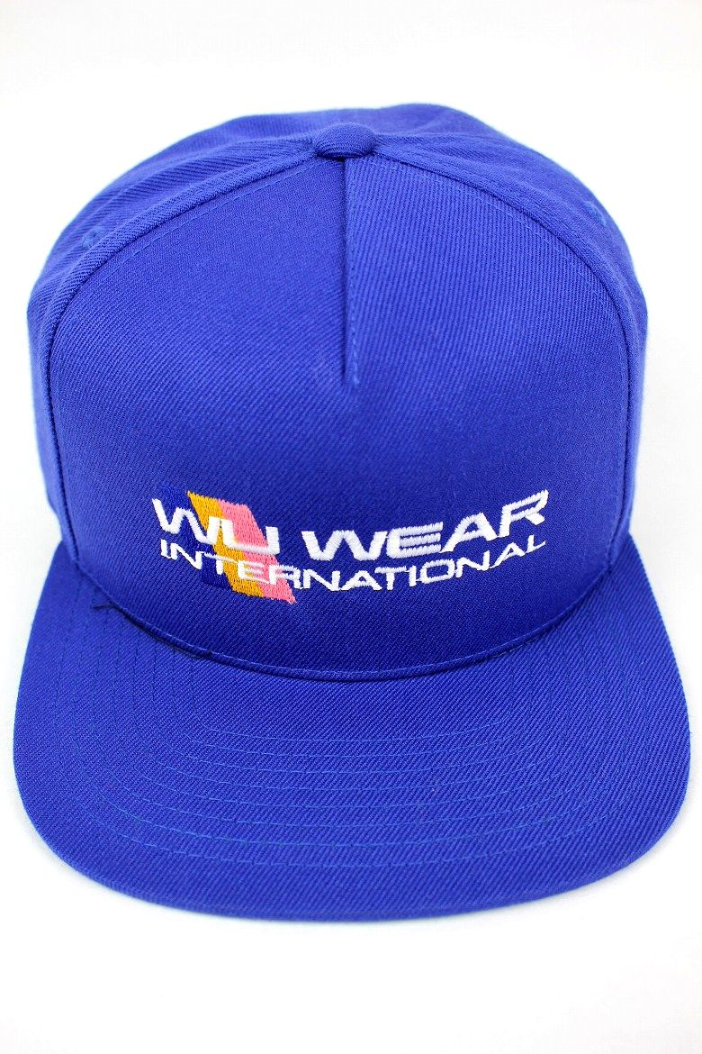 "WU WEAR / ""INTERNATIONAL"" SNAPBACK CAP / blue"
