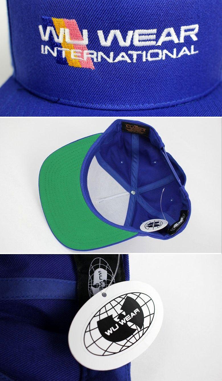 """WU WEAR / """"INTERNATIONAL"""" SNAPBACK CAP / blue"""