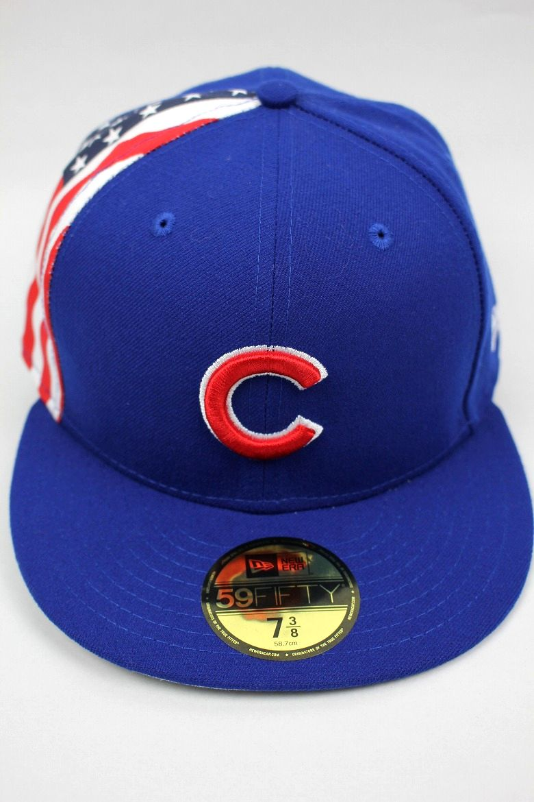 "NEWERA / ""CHICAGO CUBS"" SIDE FLAG FITTED CAP / blue"