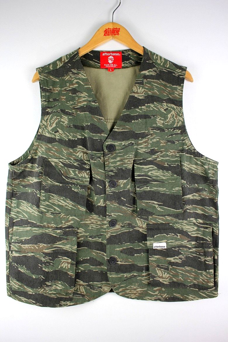AFTERBASE / CAMO VEST / green