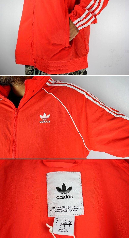 """adidas ORIGINALS / """"SST"""" WINDBREAKER JACKET / orange×white"""