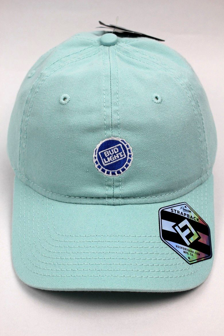 "BUD LIGHT / ""CROWN"" STRAPBACK CAP / mint"