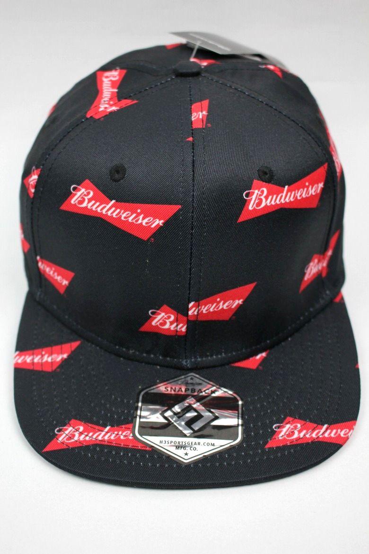 BUDWEISER / MULTI LOGO SNAPBACK CAP / black
