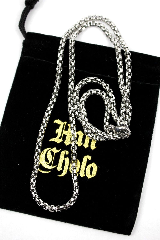 "HAN CHOLO / ""INDIVIDUAL BOX CHAIN"" NECKRACE / silver"