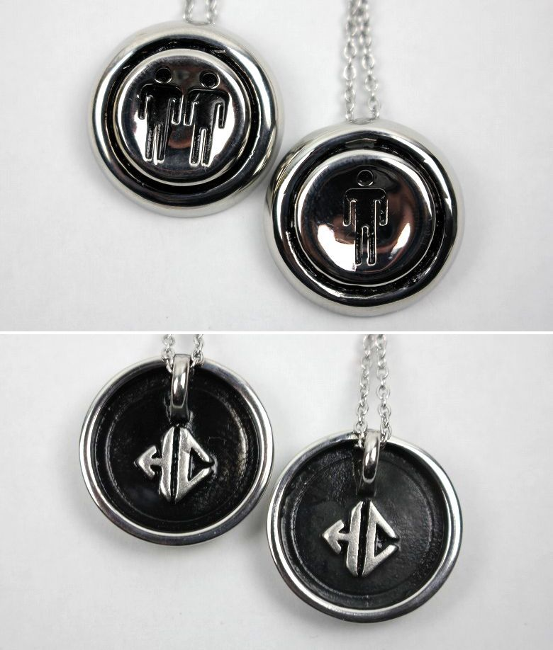 """HAN CHOLO / """"PLAYER 1+2"""" NECKLACE / silver"""