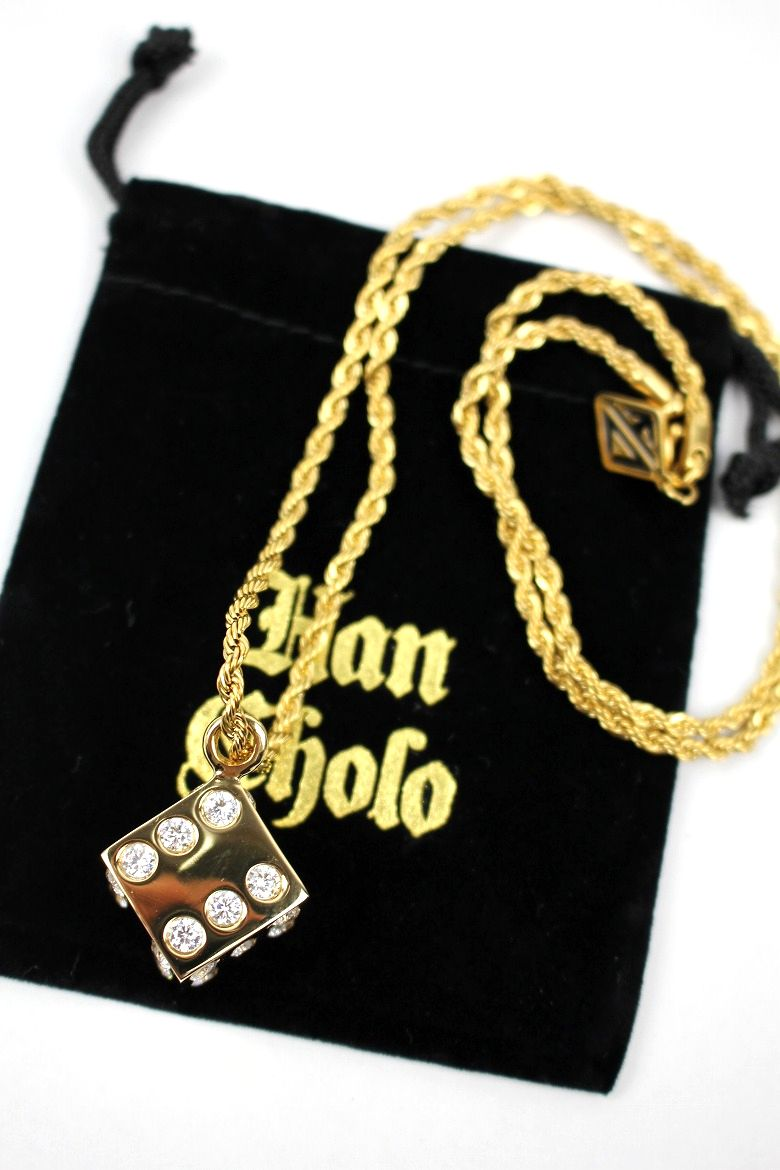 "HAN CHOLO / ""DICE"" NECKLACE / gold"