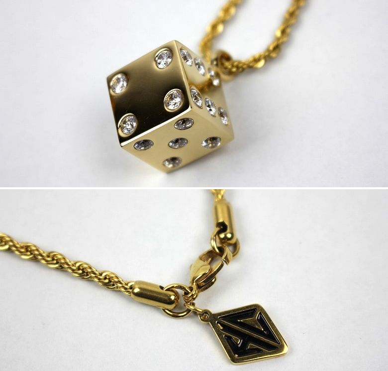 """HAN CHOLO / """"DICE"""" NECKLACE / gold"""