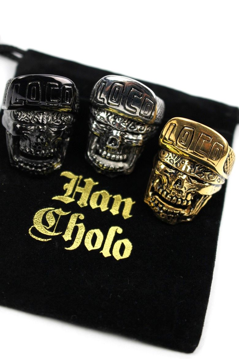 "HAN CHOLO / ""LOCO SKULL"" RING"