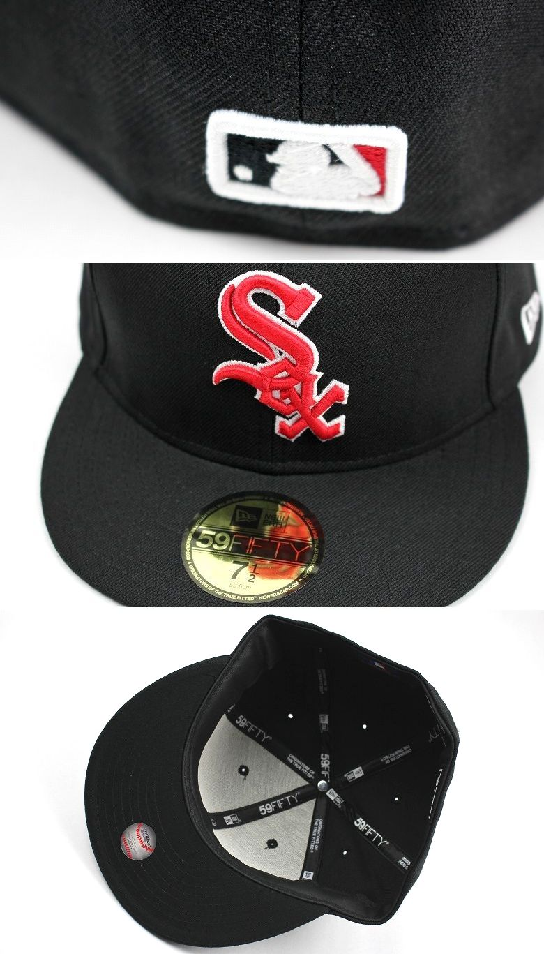 "NEWERA / ""CHICAGO WHITE SOX"" FITTED CAP / black×red"