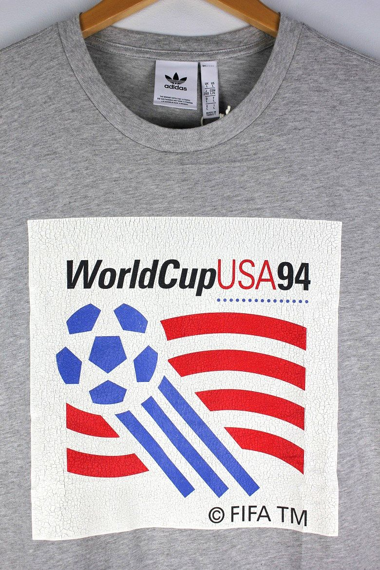 "adidas ORIGINALS / ""WORLD CUP 1994"" Tee / heather grey"