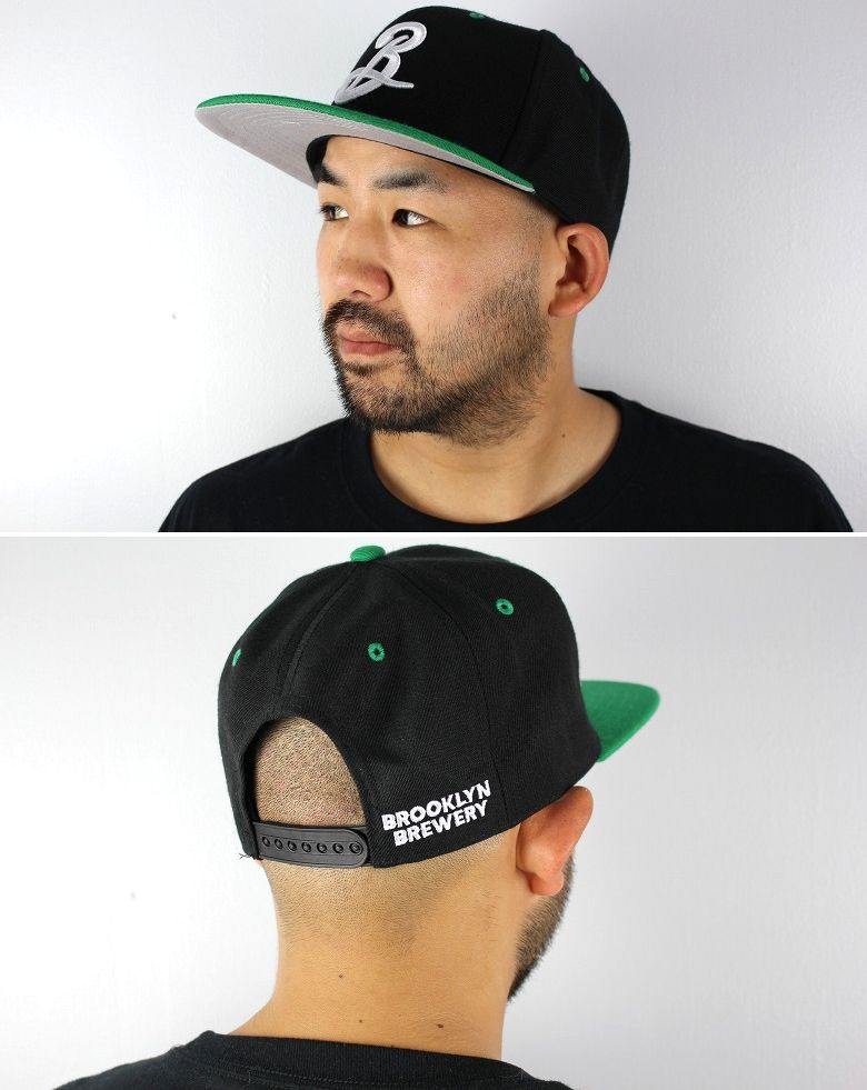 BROOKLYN BREWERY / LOGO 2-TONE SNAPBACK CAP / black×green