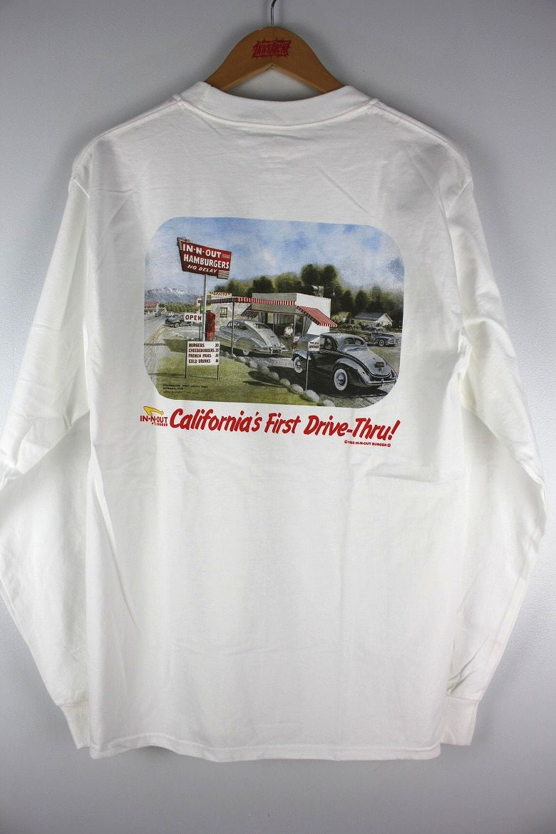 "IN-N-OUT BURGER / ""CA FIRST DRIVE"" LS Tee / white"