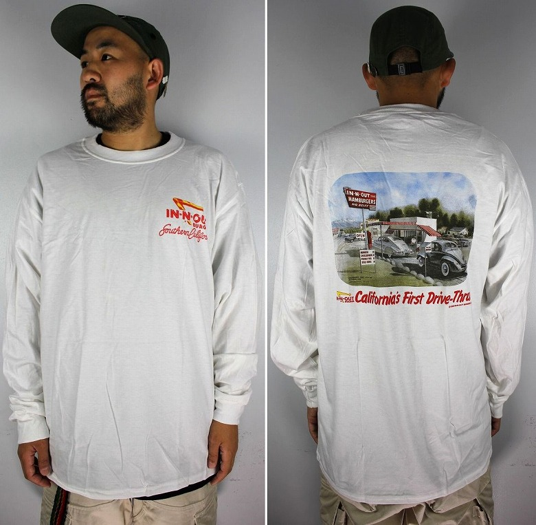 """IN-N-OUT BURGER / """"CA FIRST DRIVE"""" LS Tee / white"""