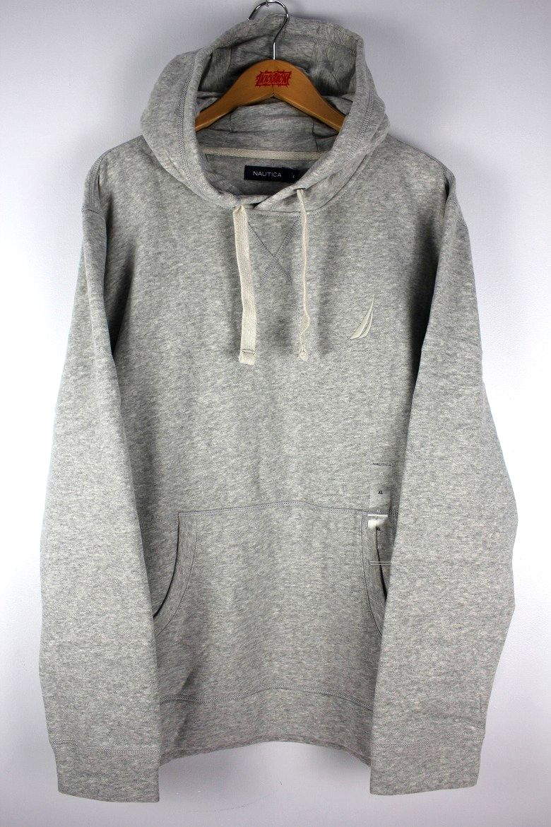 NAUTICA / ONE POINT LOGO PULLOVER SWEAT HOODY / heather grey
