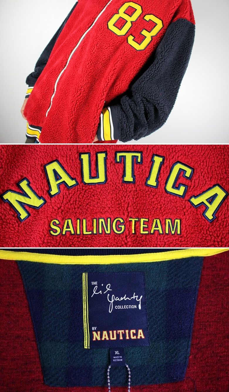 NAUTICA×LIL YACHTY / BOA JACKET / red×navy×yellow