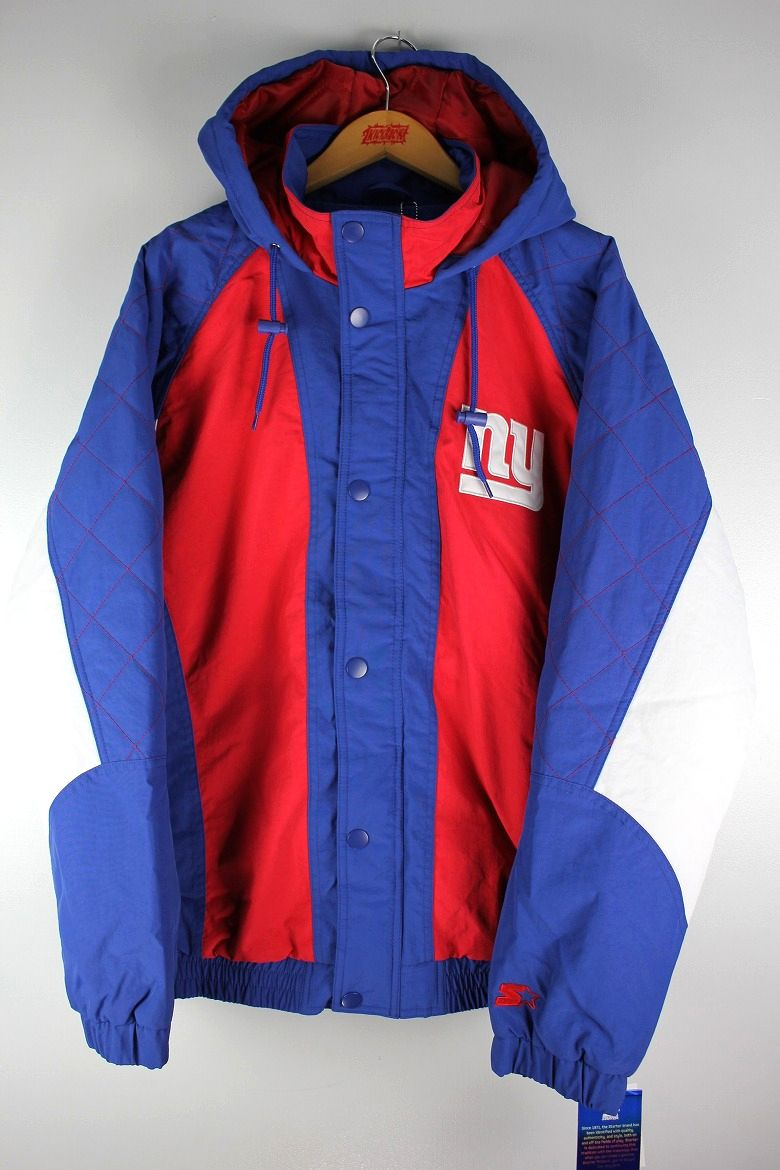 "STARTER BLACK LABEL / ""NEWYORK GIANTS"" HOODED JACKET / blue×red×white"