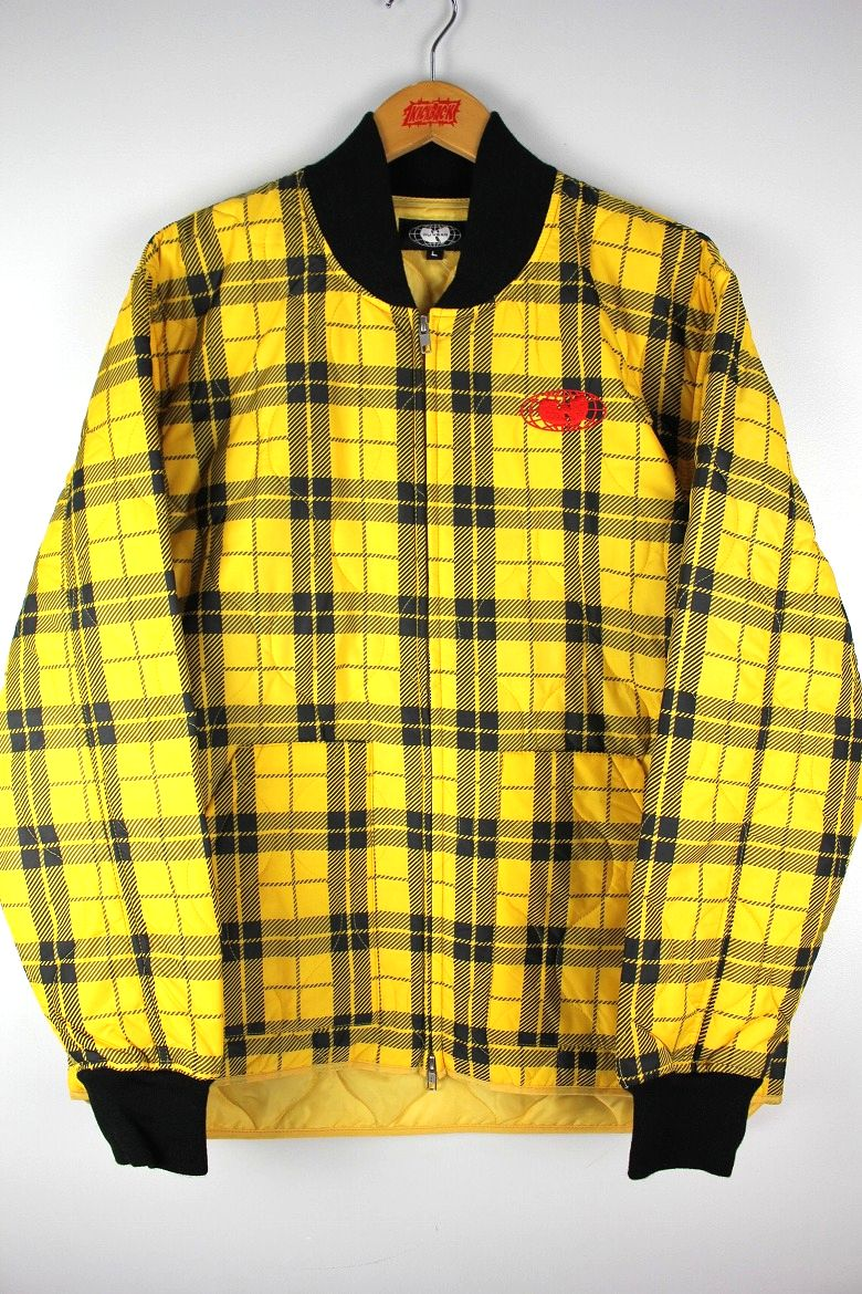 WU WEAR / GLOBAL WORK JACKET / yellow×black plaid