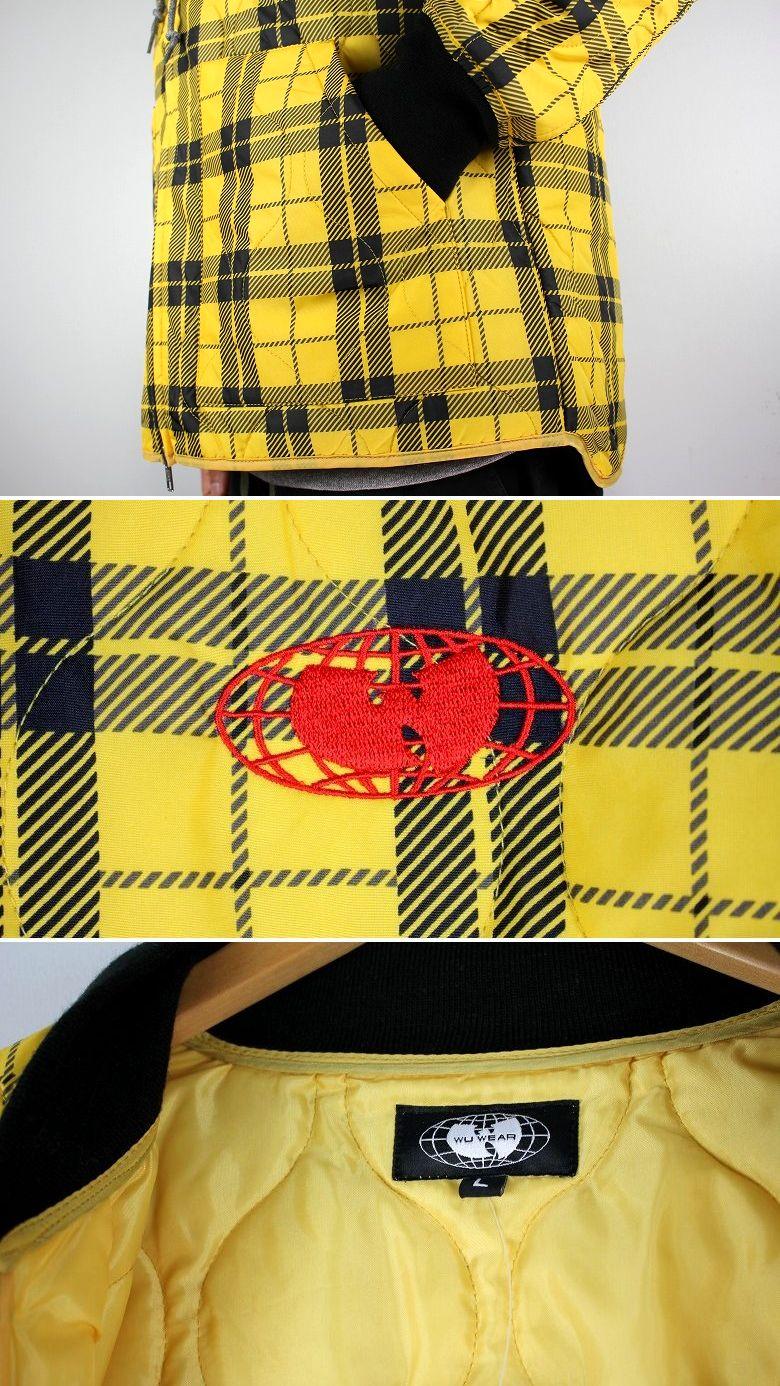 WU WEAR / GLOBAL WORK JACKET / yellow×black plaid