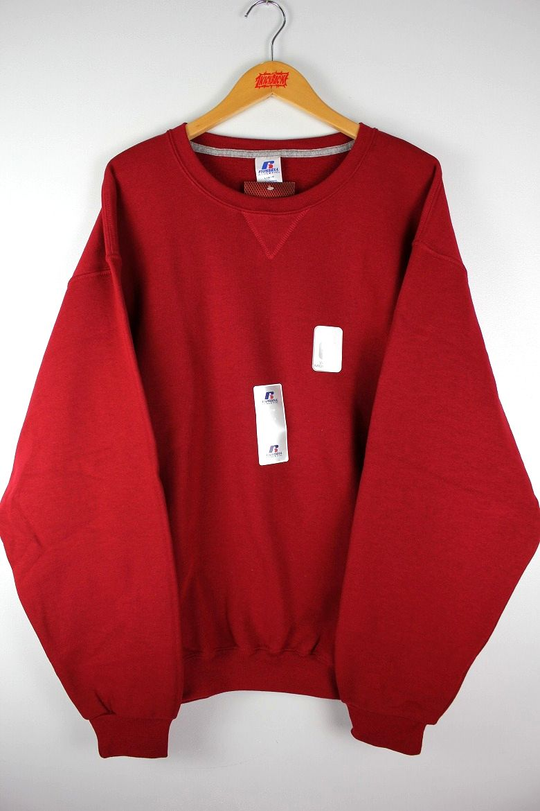 RUSSEL ATHLETIC / CREWNECK SWEAT / cardinal red