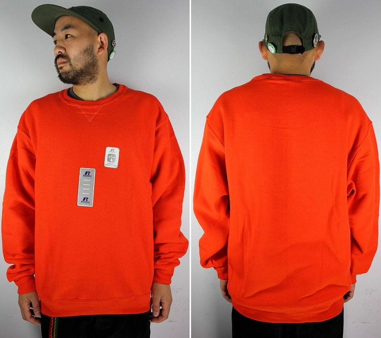 RUSSEL ATHLETIC / CREWNECK SWEAT / orange