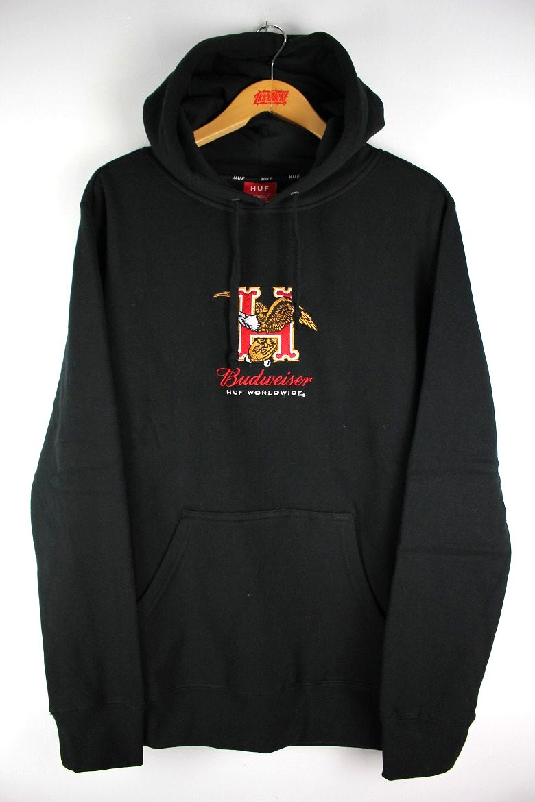 "HUF×BUDWEISER / ""EAGLE"" PULLOVER SWEAT HOODY / black"