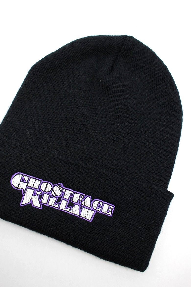"WU-TANG CLAN / ""GHOSTFACE KILLAH"" CUFF BEANIE / black"