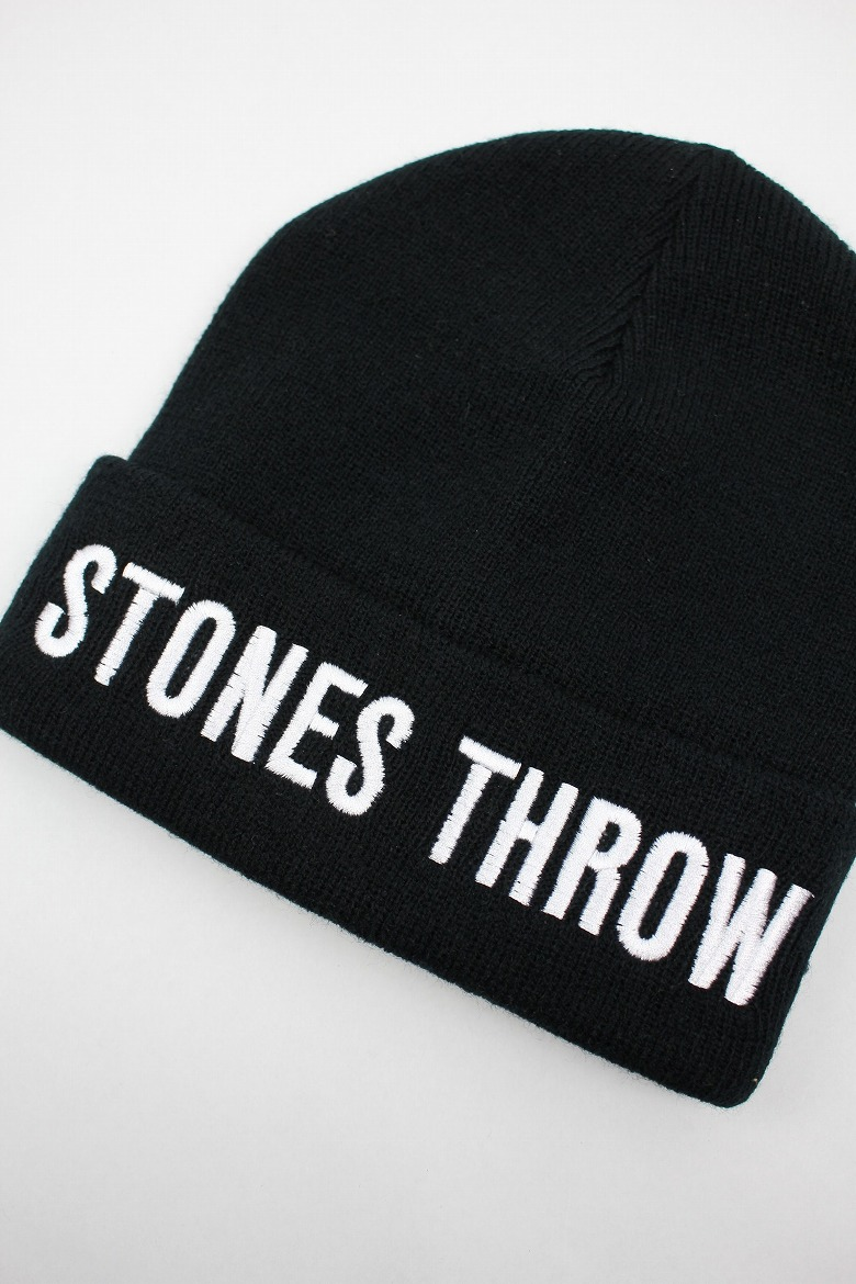 STONES THROW / LOGO CUFF BEANIE / black